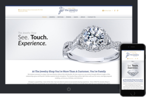 The jewelry shop website and logo from a home builder logo, with interactive floor plans, and home builder lead management
